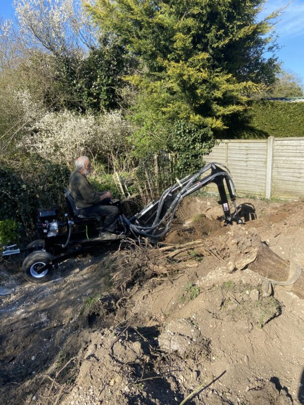 Mini Excavator / Digger Black tools Hydraulic